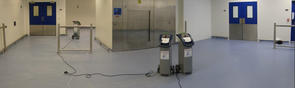 Fogging of pharmaceutical cleanroom