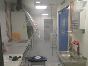 Hydrogen peroxide fogging of cat 3 lab