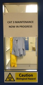 Maintenance in Progress in Cat 3 lab